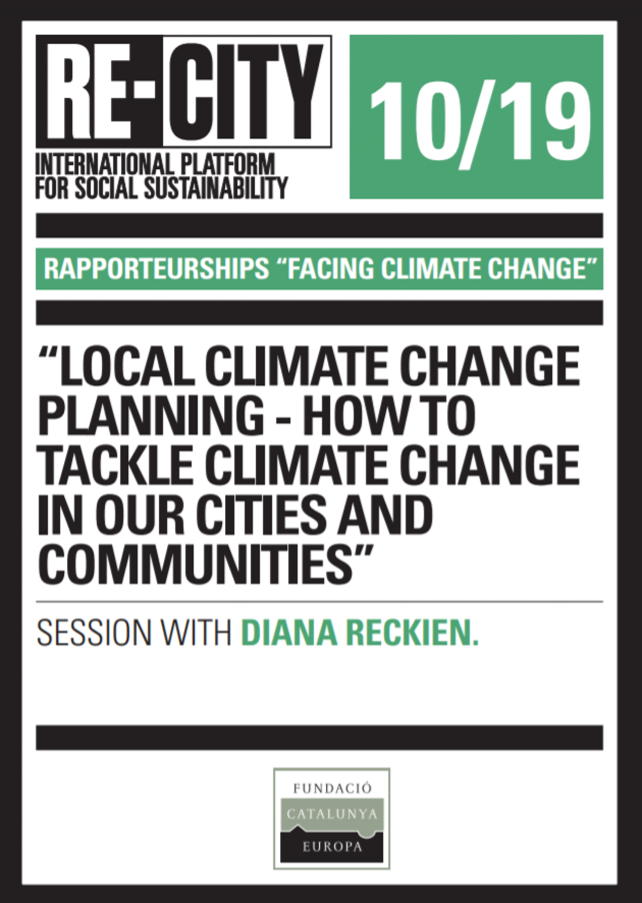 Local climate change planning - How to tackle climate change in our cities and communities. Diana Reckien (eng)