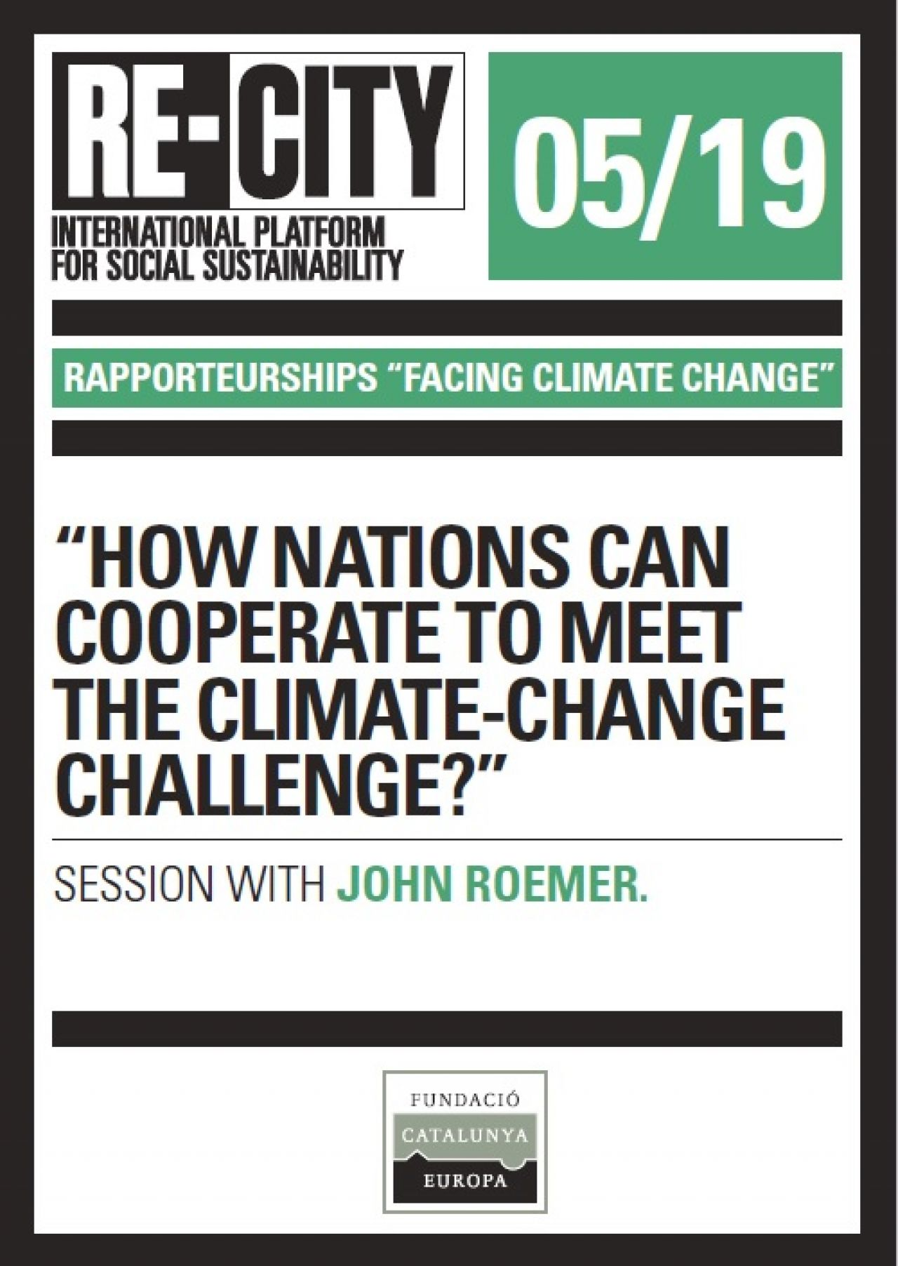 The ethic of climate change. John Roemer (eng)