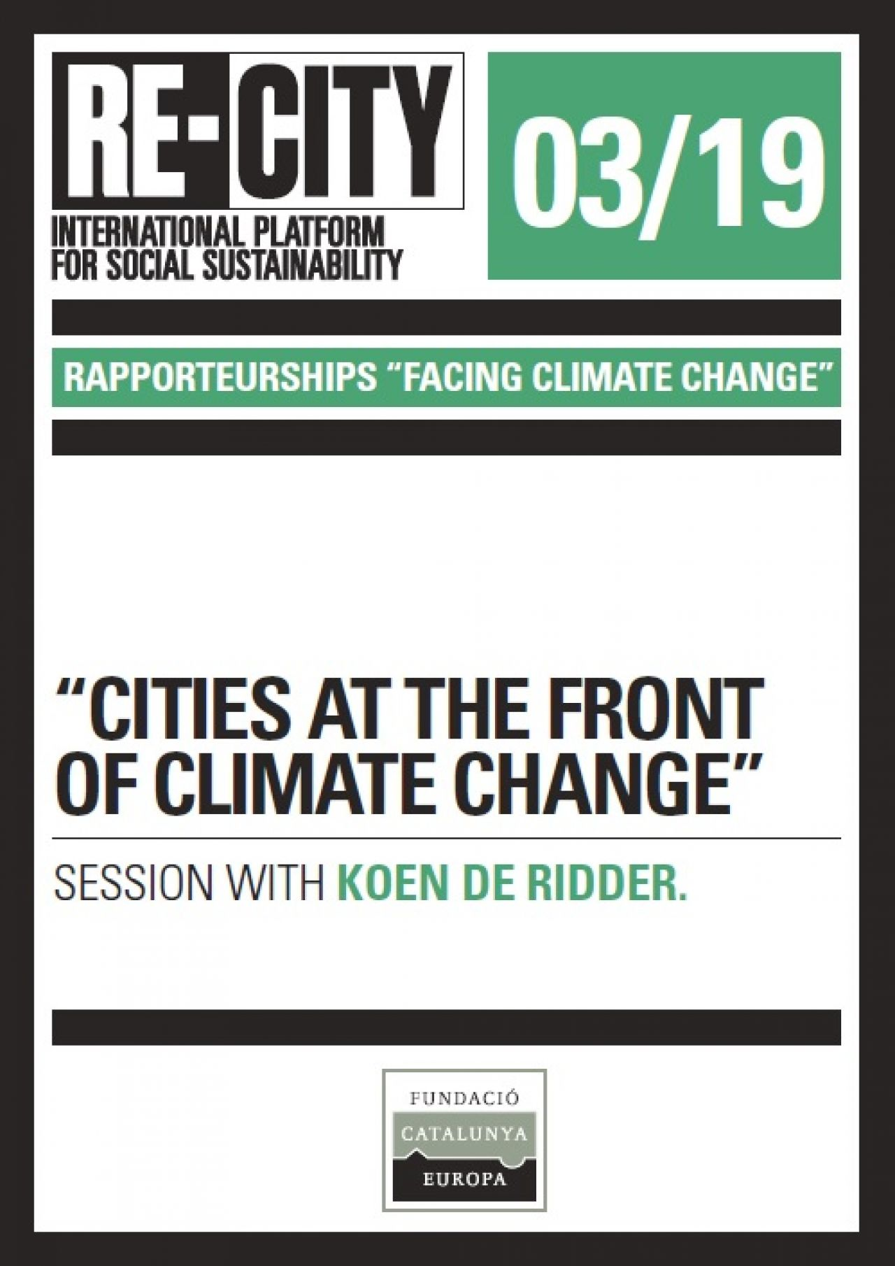 Cities at the front of climate change. Koen de Ridder (eng)