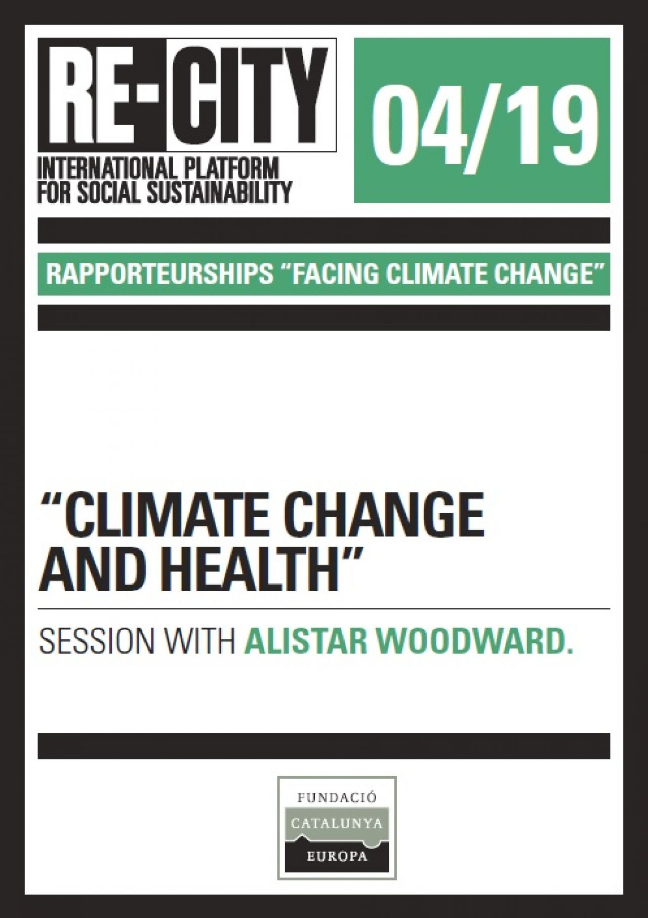 Climate change and health. Alistair Woodward (eng)